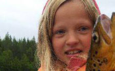 Pen ørret tatt i Holtsjøen